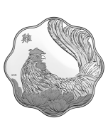 2017 26.7grams Canada Lunar Year of the Rooster 9999 Silver Proof Lotus Coin