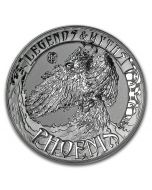 2017 2 oz Solomon Island Legends and Myths - Phoenix .999 Silver High Relief Coin