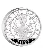 2021 56.56g Great Britain Alfred The Great .925 Silver Piedfort Proof Coin