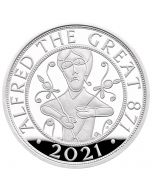 2021 28.28g Great Britain Alfred The Great.925 Silver Proof Coin
