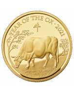 2021 1 oz Great Britain Lunar Series Year of the  Ox .9999 Gold Proof Coin