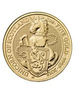 2018 1 oz Britain Queen's Beasts - The Unicorn of Scotland .9999 Gold Coin