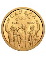 2020 12 gram Canada 75th Anniversary Of V-E Day .585 Gold Proof Coin