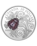 2020 1 oz Canada Bejeweled Bugs : Ladybug .9999 Silver Proof Coin