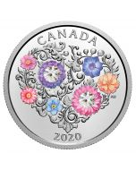 2020 7.96 gram Canada Celebration Of Love .9999 Silver Proof Coin