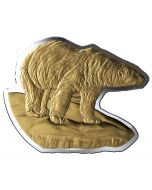 2020 100g Canada Real Shapes : The Polar Bear .9999 Silver  Proof Coin