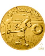 2020 1/4 oz Niue Disney Steamboat Willie 9999 Gold Proof Coin