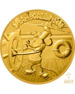 2020 1 oz Niue Disney Steamboat Willie 9999 Gold Proof Coin