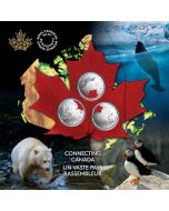 2020 Canada Connecting Canada 25-Cent Coin Set
