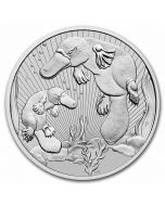 2021 10 oz Australia Mother and Baby - Platypus .9999 Silver BU Coin