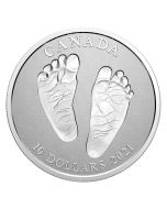 2021 1/2 oz  Canada Premium Baby Welcome To The World .9999 Silver Proof Coin