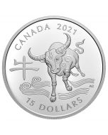 2021 1 oz Canada Year of the Ox .9999 Silver Proof Coin