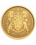 2021 1/10oz Canada 100th Anniversary of Canada's Coat of Arms.9999 Gold Reverse Proof Coin