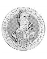 2021 10 oz Great Britain Queen's Beasts - The White Horse 9999 Silver BU Coin
