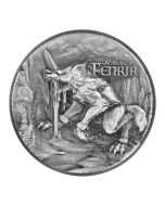 2021 2oz Chad The Binding of Fenrir .999 Silver Antique High Relief Coin