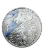2015 1oz Niue Year of the Goat .999 Coloured Silver Proof Coin