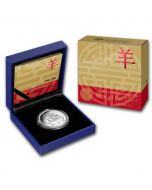 2015 1oz Australia Year of the Goat .999 Silver Proof Coin