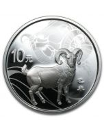 2015 1oz China Year of the Goat .999 Silver Proof coin