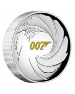 2020 1 oz Tuvalu James Bond 007 .9999 Silver Proof High Relief Coin