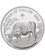 2021 5 oz Great Britain Lunar Series Year of the Ox .999 Silver Proof Coin
