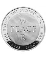 2020 56.56 gram Great Britain 75th Anniversary of the End of the World War II .925 Silver Proof Piedfort Coin