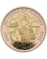 2020 15.97 gram Great Britain Agatha Christie - 100 Years of Mystery .9167 Gold Proof Coin