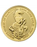2020 1/4 oz Great Britain The Queen's Beasts The White Horse of Hanover .9999 Gold Coin BU