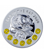 2020 17.5 gram Niue Year of The Rat .999 Silver Proof Coin
