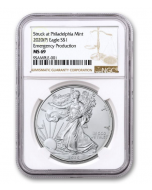 2020 1oz America Eagle .999 Silver Coin (Emergency Production NGC MS69)