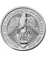 2019 2 oz Great Britain Queen's Beasts - The Falcon of the Plantagenets .9999 Silver Coin BU