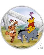 2021 1oz Niue Disney's Pooh & Friends .999 Silver Proof Coin