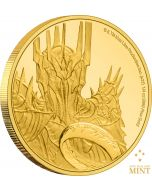 2021 1/4 oz Niue Lord Of The Rings Classic Series  -Dark Lord Sauron .9999 Gold Proof Coin