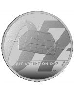 2020 1 oz Great Britain James Bond 2 Pay Attention 007 .999 Silver Proof Coin
