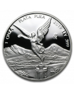 2019 1 oz Mexico Libertad .999 Silver Proof Coin (Blemished)