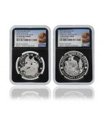 2020 1oz Great Britain The 400th Anniversary of the Voyage of the Mayflower .999 Silver Proof Coin and Medal Set (NGC PF70 First Release)