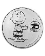 2020 1oz Peanuts 70th Anniversary with Charlie Brown .999 Silver Round