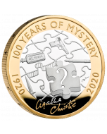 2020 12 gram Great Britain Agatha Christie - 100 Years of Mystery .925 Silver Proof  Coin