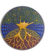 2020 3 oz Palau DOT Art Series -Tree of Life 999 Silver Proof Coin