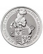 2019 1 oz Britain Queen's Beasts -The Black Bull of Clarence .9995 Platinum Coin
