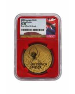 2020 1 oz Australia's Most Dangerous - Redback Spider  - NGC MS70 One of First 30 Struck .9999 Gold Coin Certificate #4