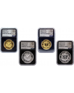China's Famous Vintage Coin Series - Kiangnan Dragon and Reverse Dragon Restrike 4 Pieces Set (NGC PF70 UC First Struck)