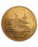 1978 1/2 oz Russia Olympics Waterside Grandstand .900 Gold Coin