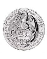 2018 10 oz Britain The Queen's Beasts - Red Dragon of Wales 999.9 Silver Coin