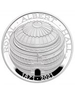 2021 56.56g Great Britain The 150th Anniversary of The Royal Albert Hall .925 Silver Proof Piedfort Coin