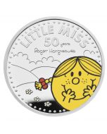 2021 1oz Great Britain The 50th Anniversary of  Mr Men Little Miss- Little Miss Sunshine .999 Silver Proof (Coin 3 )