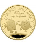 2021 1/4 oz Great Britain The 50th Anniversary of  Mr Men Little Miss - Mr Strong and Little Miss Giggles .9999 Gold Proof Coin ( Coin 2)