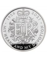 2021 28.28g Great Britain The 95th Birthday of Her Majesty The Queen .925 Silver Proof Coin