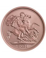 2021 7.98g Great Britain The 95th Birthday of Her Majesty The Queen Celebration Sovereign .9167 Gold Coin