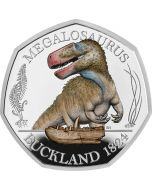 2020 8 grams Great Britain Megalosaurus .925 Silver Coloured Proof Coin