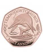 2021 15.5g Great Britain The Mary Anning Collection-Temnodontosaurus .9167 Gold Proof Coin
